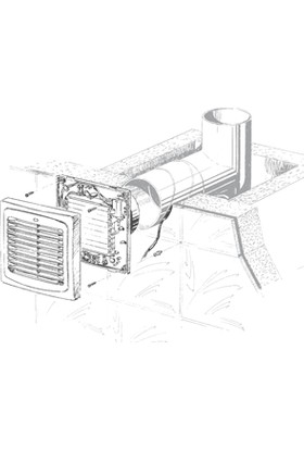 Blauberg Auto 125 H Nem Sensörlü Otomatik Panjurlu Banyo Fanı