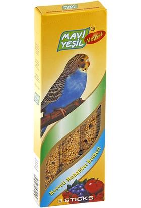 Mavi Yeşil Meyveli Muhabbet Kuşu Krakeri 6500 gr
