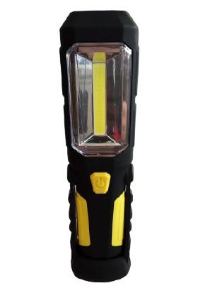 Wert 2612 Pilli Çalışma Lambası, 3W Cob LED + 1 LED