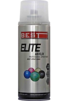 Best Elite 9526 Akrilik Mat Siyah Sprey Boya 400 ml Tekli