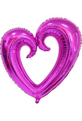 Acar Süs Ortası Boş Mor Kalp Folyo Balon 96 x 109 cm