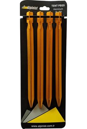 Alpinist Alüminyum 6061 Çadır Kazığı 18 cm Turuncu 4'lü