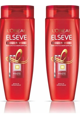 Elseve L'oréal Paris Elseve Colorvive Renk Koruyucu Bakım Şampuanı 520 ml x (2 Adet)