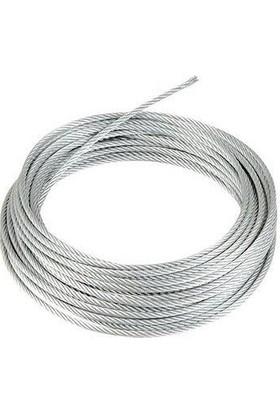 adelinspor PVC Kaplı Çelik Halat İzoleli İç 2 x 3 mm x 100 m