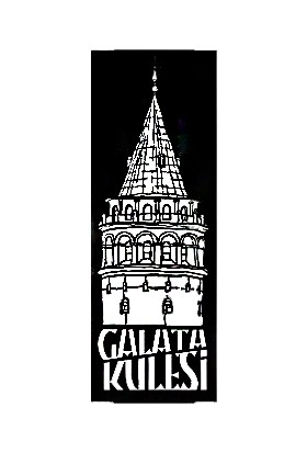 Monge Dizayn Galata Kulesi Metal Tablo