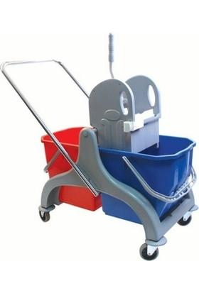Free Comfort Plastik Presli Çift Kovalı Temizlik Arabası