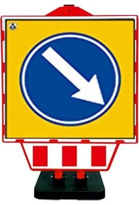 İlgi Trafik Katlanır Uyarı Levhası Bariyeri Levhalı Bariyer Sağdan Gidiniz