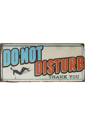 Süme Do Not Disturb Tabela Retro Rahatsız Etme Plaka
