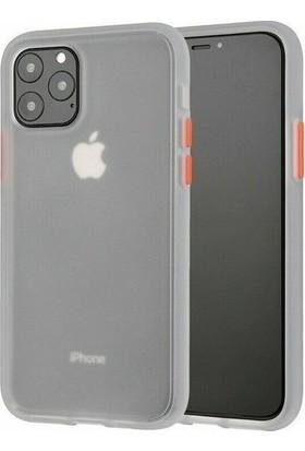 Vision Apple iPhone 11 Pro Kılıf Mat Sert Korumalı Tank Silikon Kılıf - Gri