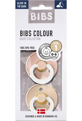 Bibs Colour İkili Emzik - Blush Night- Vanilla Night (Karanıkta Parlar)