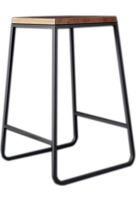 İskarpela Retro Ahşap Tarz Bar Taburesi Bar Sandalyesi