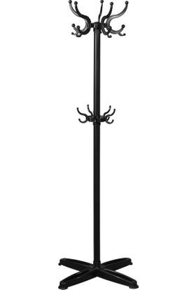 Diverso Home Portatif Ayaklı Metal Gövdeli Askılık D-208 Lüx Siyah