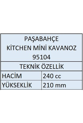 Paşabahçe 4'lü 95104 Kitchen Mini Baharatlık Kavanoz 240 cc