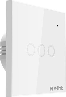 S-Link Swapp SL-EG33 Kablosuz ve Dokunmatik Aydınlatma Anahtarı 3lü Wifi Tuya Destekli