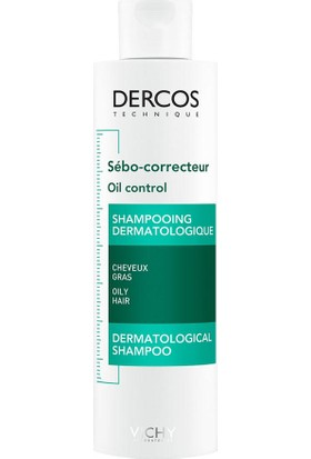 Vichy Dercos Oil Control Aşırı Yağlanmaya Karşı Etkili Bakım Şampuanı 200 ml