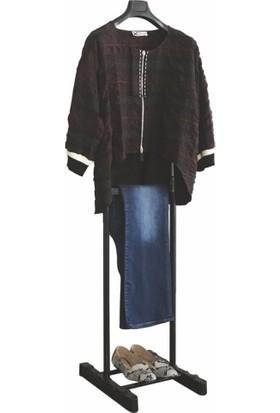Mynila Dilsiz Uşak Elbise Askısı Tek Tepeli Siyah