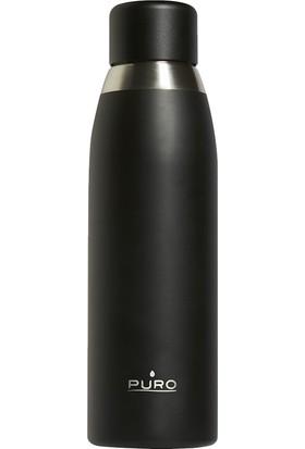 Puro Smart Paslanmaz Çelik Termos Termal Siyah 500 ml