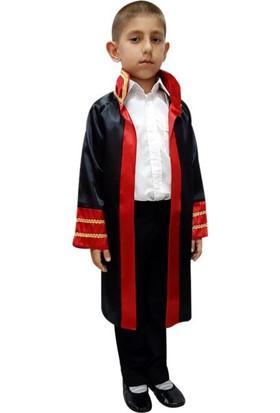 Kostümce Çocuk Hakim - Savcı Cübbesi