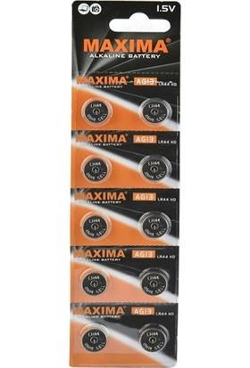 Maxima 10'lu A76 1.5V Alkalin Düğme Pil LR44-AG13