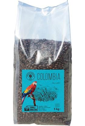 Bedirhan Kahve Colombia Kolombiya Filtre Kahve Çekirdek 5 kg
