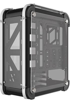 Rampage Castle Siyah/Kırmızı 4in1 Kart Okuyucu + Led Şeritli Temper Glass Çelik Gövdeli Oyuncu Kasa