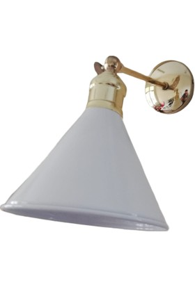 Bcb Dizayn Oval Sıvama Retro Aplik Beyaz