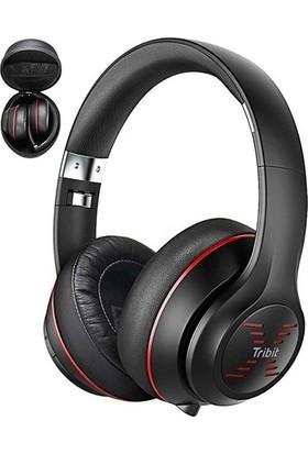 Tribit Audio Xfreetune Bluetooth Kulak Üstü Mikrofonlu Kulaklık -Kırmızı