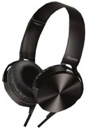 Piranha 2103 Kablolu Mikrofonlu Kulaklık Siyah