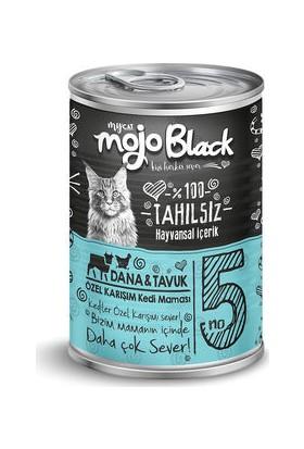 My Cat Mycat Mojo Black Dana&tavuk Etli Kedi Konservesi 415 gr 6'lı Koli