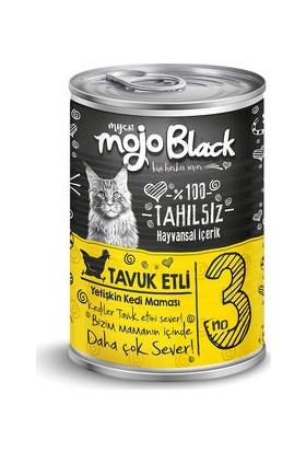 My Cat Mycat Mojo Black Tavuk Etli Kedi Konservesi 415 gr 6'lı Koli