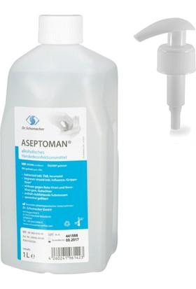 Dr.Schumacher Aseptoman %72 1000 ml El Dezenfektanı + Pompa Hediyeli