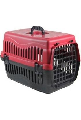 Aslan Kedi Köpek Taşıma Çantası Plastik Kırmızı