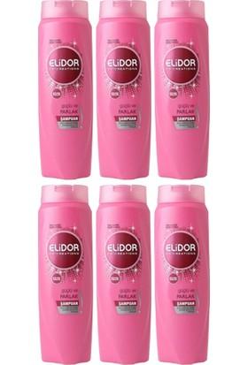 Elidor Güçlü ve Parlak Saç Bakım Şampuanı 650 ml X6 Adet