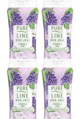 Pure Line Sümbül & Misk Duş Jeli 400 ml 4 Adet