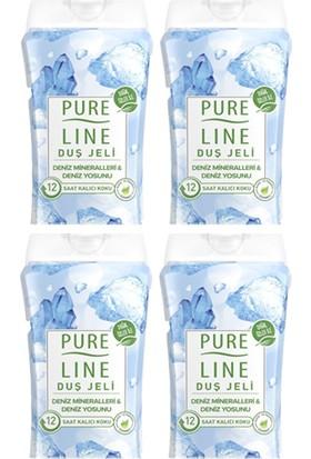 Pure Line Deniz Mineralleri & Deniz Yosunu Duş Jeli 400 ml 4 Adet