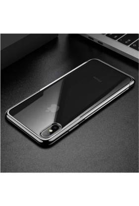 Baseus iPHONE X- Xs Shınıng Yumuşak Silikon Kılıf - Gri