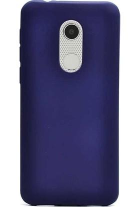Herdem Alcatel 5 Kılıf Ultra Lüx Soft Mat Silikon Lacivert