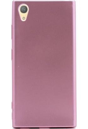Herdem Sony Xperia XA1 Plus Kılıf Lüx Soft Mat Silikon Rose Gold