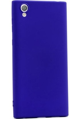Herdem Sony Xperia L1 Kılıf Ultra Lüx Soft Mat Silikon Lacivert