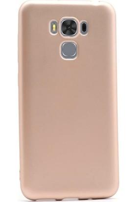 Herdem Asus ZenFone 3 Max (ZC553KL) Kılıf Ultra Lüx Soft Mat Silikon Gold