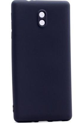 Herdem Nokia 3 Kılıf Ultra Lüx Soft Mat Silikon Siyah