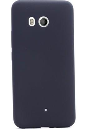Herdem HTC U11 Kılıf Ultra Lüx Soft Mat Silikon Siyah