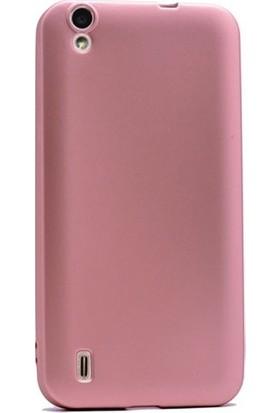 Herdem Vestel Venüs 5000 Kılıf Ultra Lüx Soft Mat Silikon Rose Gold
