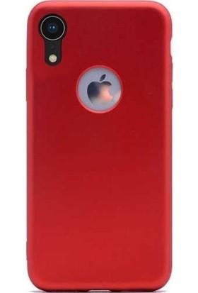 Herdem iPhone XR Kılıf Ultra Lüx Soft Mat Silikon Kırmızı