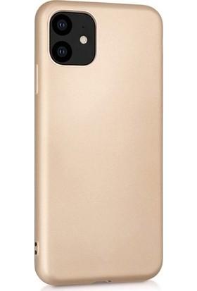 Herdem iPhone 11 Kılıf Ultra Lüx Soft Mat Silikon Gold