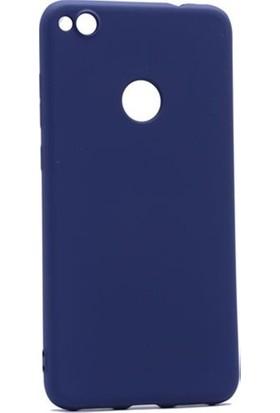 Herdem Huawei P9 Lite 2017 Kılıf Ultra Lüx Soft Mat Silikon Lacivert