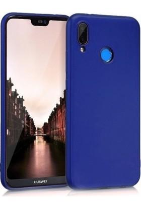 Herdem Huawei Y9 2019 Kılıf Ultra Lüx Soft Mat Silikon Lacivert