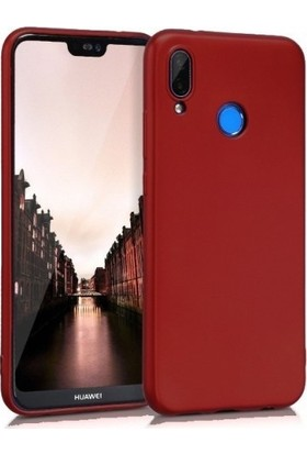 Herdem Huawei Y9 2019 Kılıf Ultra Lüx Soft Mat Silikon Bordo