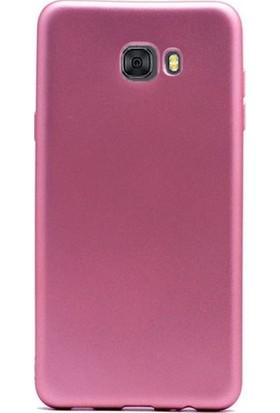 Herdem Samsung Galaxy J7 Prime Kılıf Ultra Lüx Soft Mat Silikon Rose Gold