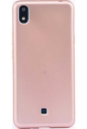 Herdem LG K20 2019 Kılıf Ultra Lüx Soft Mat Silikon Rose Gold
